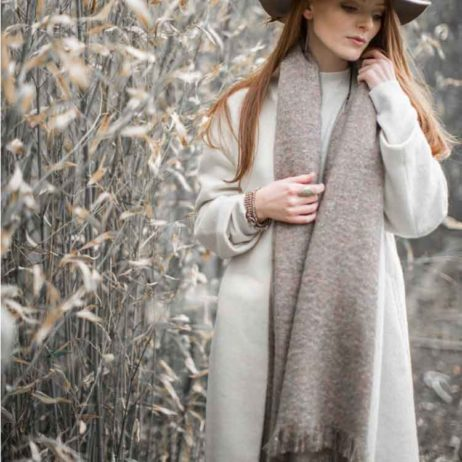 Tutti and Co Metallic Thread Simmer Sand Scarf