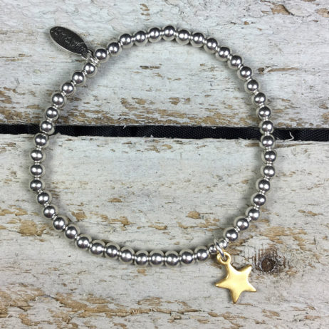 Hultquist Jewellery Bi Colour Star Bracelet