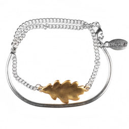 Hultquist Jewellery Silver and Gold Oak Leaf Bracelet