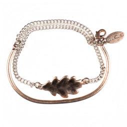 Hultquist Jewellery Rose Gold Oak Leaf Bracelet