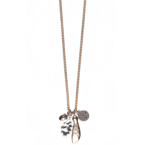 Hultquist Jewellery Rose Gold Oak Leaf Long Necklace