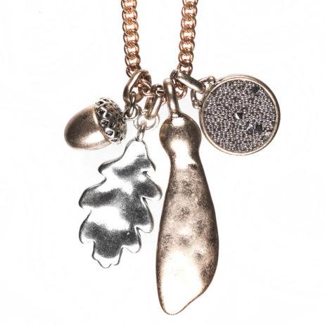 Hultquist Jewellery Rose Gold Oak Leaf Long Necklace