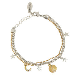 Hultquist Jewellery Bi Colour Star and Moon Bracelet