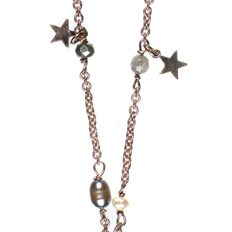 Hultquist Jewellery Semi Precious Rose Gold Star Necklace