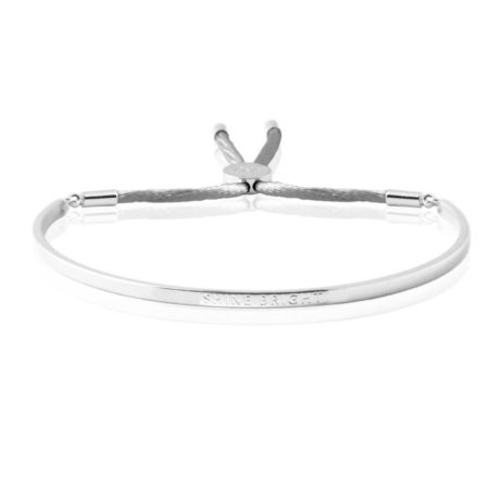 Joma Jewellery Shine Bright Silver Message Bangle 1554