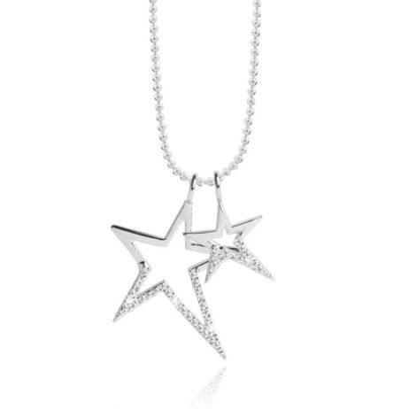 Joma Jewellery Crystal Starstruck Silver Necklace 1730