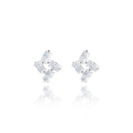 Joma Jewellery Crystal Stardust Silver Earrings
