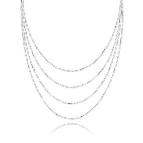 Joma Jewellery Lara Sparkling Silver Necklace 1737