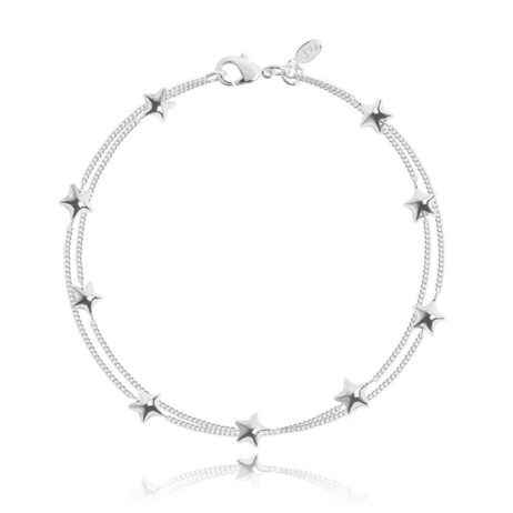 Joma Jewellery Scattered Stars Double Silver Bracelet