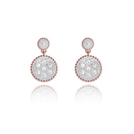 Joma Jewellery Elin Rose Gold Pave Earrings 1803 - EOL
