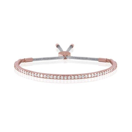 Joma Jewellery Pave Sparkle Rose Gold Message Bangle 1810
