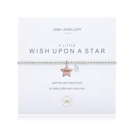 Joma Jewellery a little Wish Upon A Star Silver Bracelet 1823