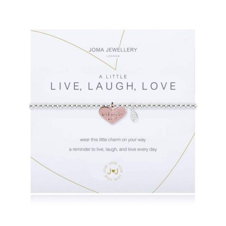 Joma Jewellery a little Live Laugh Love Heart Bracelet 1824