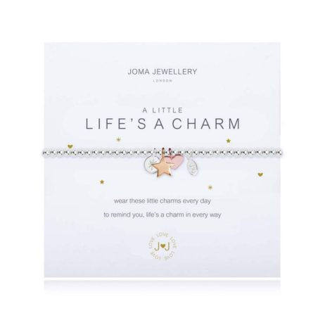 Joma Jewellery a little Lifes a Charm Rose Gold Heart Bracelet 1829