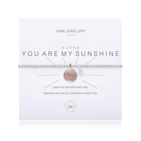 Joma Jewellery a little You Are My Sunshine Silver Bracelet 1831