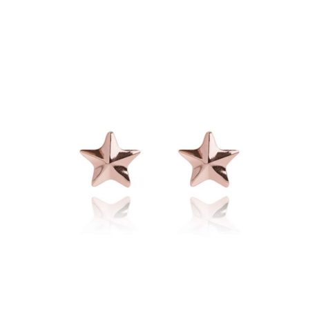 Joma Jewellery Issy Facetted Star Rose Gold Earrings