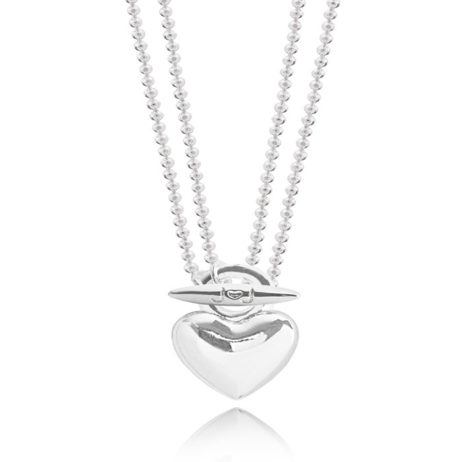 Joma Jewellery Anya Short to Long Silver Heart Pendant Necklace 1850