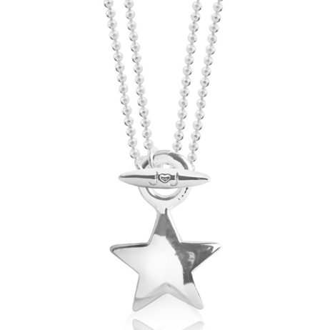 Joma Jewellery Anya Short to Long Silver Star Pendant Necklace 1851