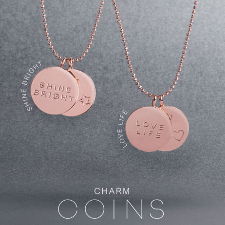 Joma Jewellery Love Life Rose Gold Discs Necklace 1852 EOL