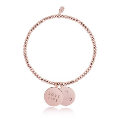 Joma Jewellery Love Life Rose Gold Discs Bracelet