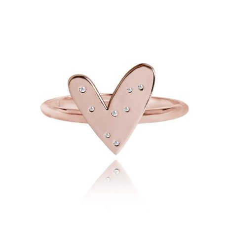 Joma Jewellery Rose Gold Lifes a Charm Heart Ring 1876 - EOL