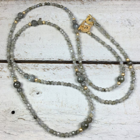 Sence Copenhagen Labradorite Future Romance Gold Necklace