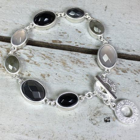 Sence Copenhagen Symphony of Stones Multi Stone Silver Bracelet