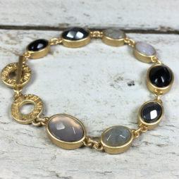 Sence Copenhagen Symphony Multi Stone Gold Bracelet