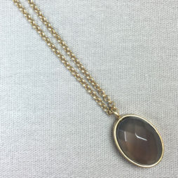 Sence Copenhagen Symphony of Stones Grey Agate Gold Necklace
