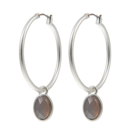 Sence Copenhagen Symphony of Stones Grey Agate Silver Earrings