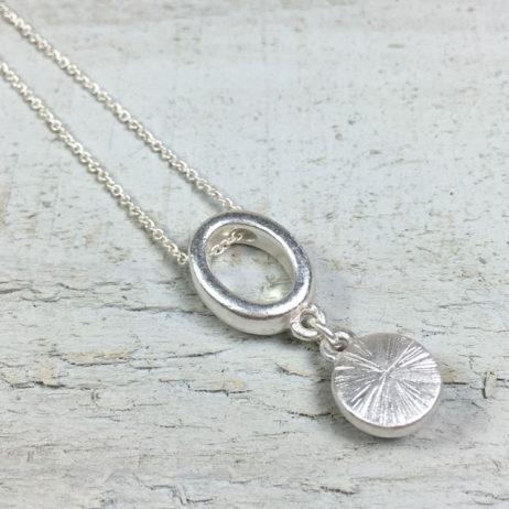 Sence Copenhagen High Sky Grey Agate Silver Necklace - EOL