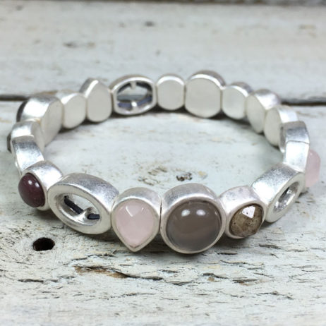 Sence Copenhagen High Sky Multi Stone Silver Bracelet