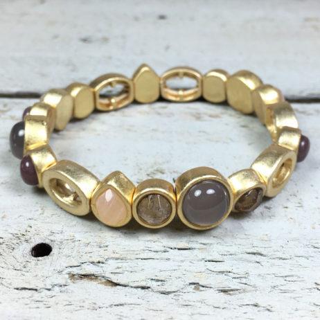 Sence Copenhagen High Sky Multi Stone Gold Bracelet