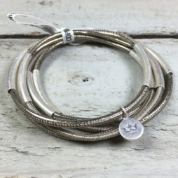 Sence Copenhagen Urban Gipsy Platium Nappa Leather Bracelet