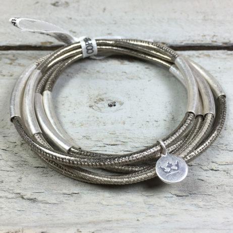 Sence Copenhagen Urban Gipsy Platinum Nappa Leather Bracelet
