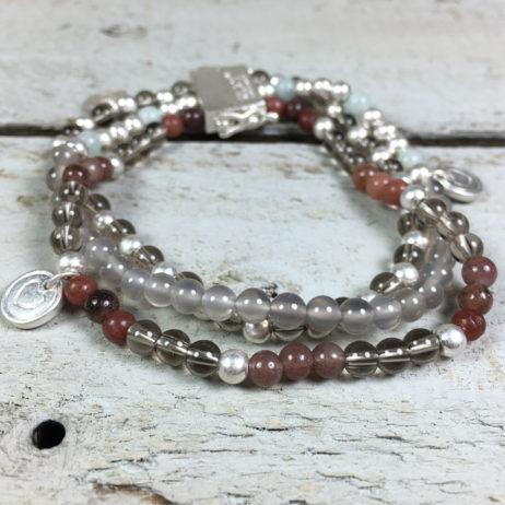 Sence Copenhagen Sweet Love Multi Stone Silver Bracelet