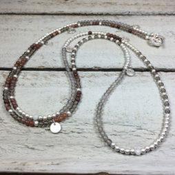 Sence Copenhagen Sweet Love Multi Stone Silver Necklace
