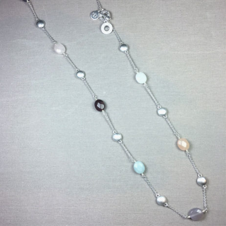 Sence Copenhagen Basics Multi Stone Silver Necklace