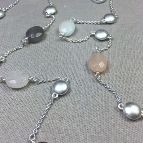 Sence Copenhagen Basics Multi Stone Silver Necklace