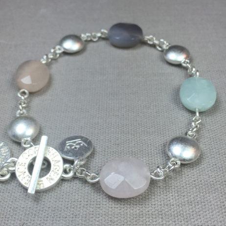 Sence Copenhagen Basics Multi Stone Silver Bracelet