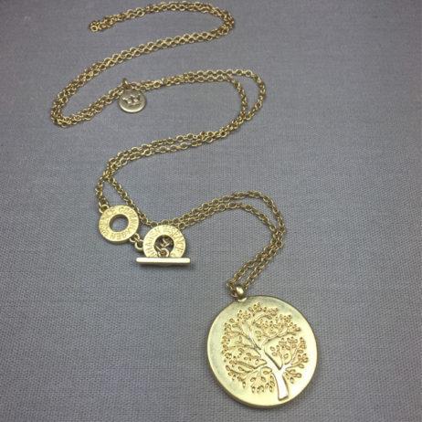 Sence Copenhagen Mulberry Tree of Life Gold Necklace