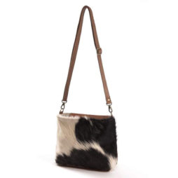 Hot Tomato Saddle Cowhide Bag