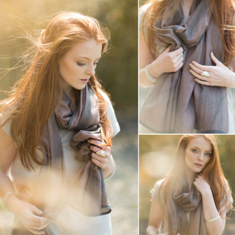 Tutti and Co Plum and Grey Marble Texture Scarf