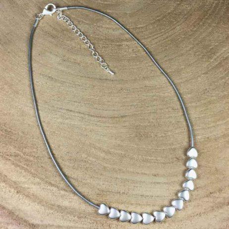 Hot Tomato Jewellery Silver Mini Hearts Necklace