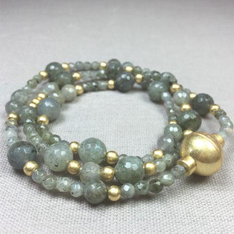 Sence Copenhagen Labradorite Future Romance Gold Bracelet