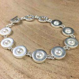 Sence Copenhagen Xmas Silver Bracelet with Freshwater Pearls