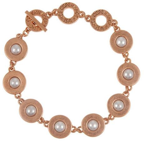 Sence Copenhagen Xmas Rose Gold Bracelet with Freshwater Pearls - EOL