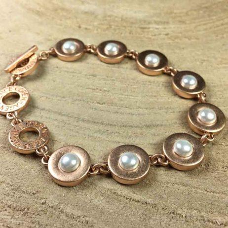 Sence Copenhagen Xmas Gold Bracelet with Freshwater Pearls