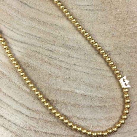 Sence Copenhagen New Boho Short Gold Necklace