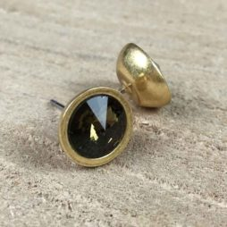 Sence Copenhagen Xmas Gold with Coffee Stud Earrings